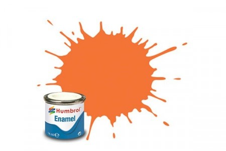 Paint enamel gloss 14 ml orange